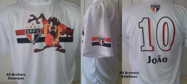 5704b1ab9 4- Camisa São Paulo Taz Mania - Personalizada - Loja AS Brothers ...